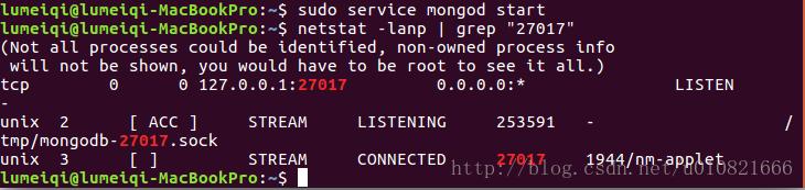 linux如何查询mongodb运行状态