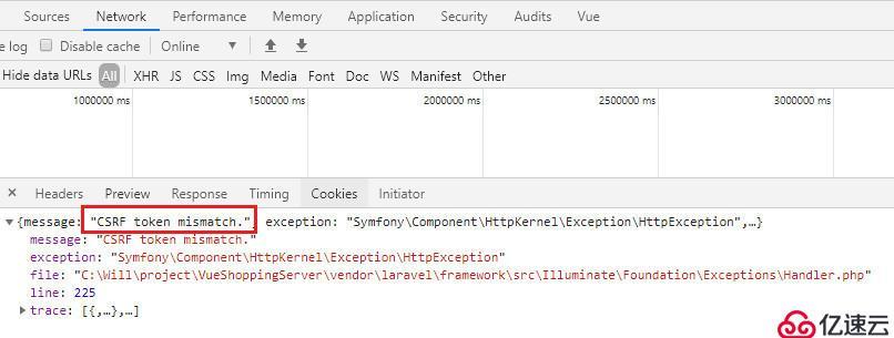 怎么解决Laravel创建API接口报错