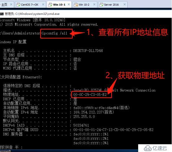 架构DHCP+DNS+WEB综合服务