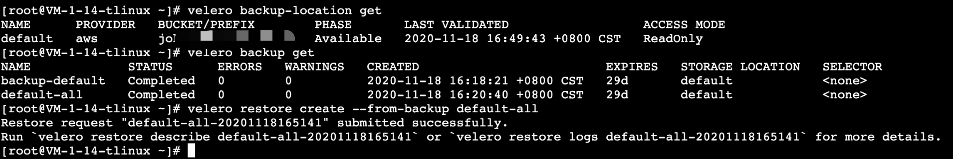 TKE中怎么使用 Velero 迁移复制集群资源